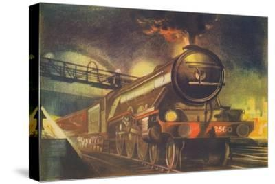 'The Night Scotsman, L.N.E.R., leaving King's Cross', 1940-Unknown-Stretched Canvas Print