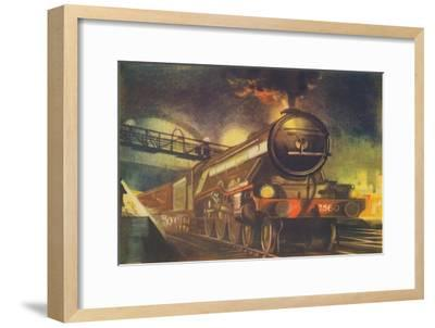 'The Night Scotsman, L.N.E.R., leaving King's Cross', 1940-Unknown-Framed Giclee Print