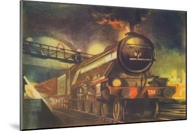 'The Night Scotsman, L.N.E.R., leaving King's Cross', 1940-Unknown-Mounted Giclee Print