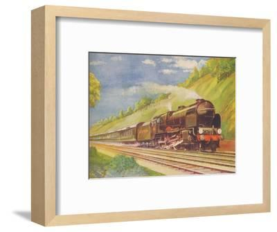 'The Ace Atlantic Coast Express, S.R., in Weybridge Cutting', 1940-Unknown-Framed Giclee Print