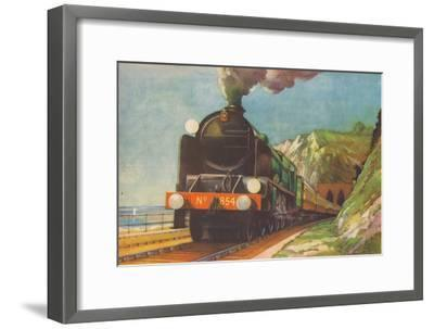 'The Golden Arrow, S.R., leaving Shakespeare's Cliff, Dover', 1940-Unknown-Framed Giclee Print