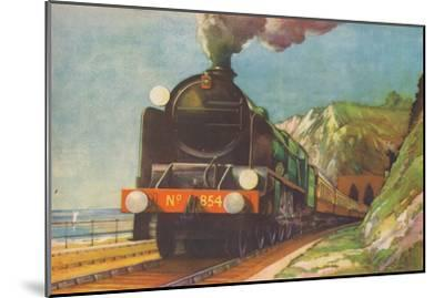 'The Golden Arrow, S.R., leaving Shakespeare's Cliff, Dover', 1940-Unknown-Mounted Giclee Print