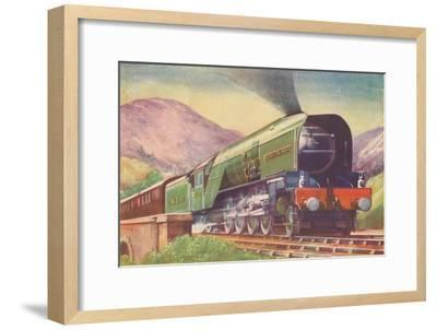 'Cock O' The North Locomotive, L.N.E.R., in the Highlands', 1940-Unknown-Framed Giclee Print