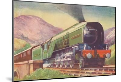 'Cock O' The North Locomotive, L.N.E.R., in the Highlands', 1940-Unknown-Mounted Giclee Print