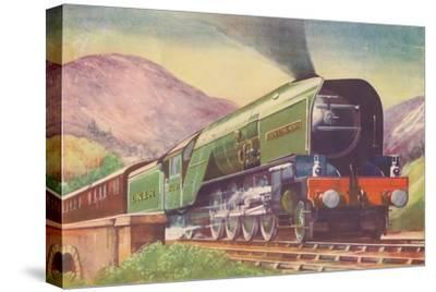 'Cock O' The North Locomotive, L.N.E.R., in the Highlands', 1940-Unknown-Stretched Canvas Print