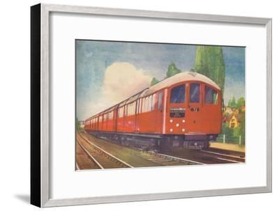 'London's New Streamlined Underground Train, Northern Line', 1940-Unknown-Framed Giclee Print