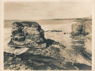 'Rocks at Porth - Newquay', 1927-Unknown-Framed Photographic Print