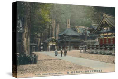 'Within Toshogu Temple at Nikko', c1900-Unknown-Stretched Canvas Print
