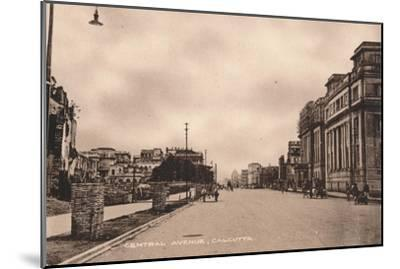 'Central Avenue, Calcutta', c1900-Unknown-Mounted Giclee Print