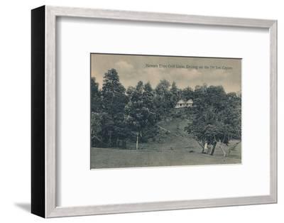 'Nuwara Eliya Golf Links, Driving on the 7th Tee, Ceylon', c1900-Unknown-Framed Photographic Print