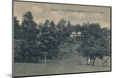 'Nuwara Eliya Golf Links, Driving on the 7th Tee, Ceylon', c1900-Unknown-Mounted Photographic Print