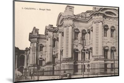 'Calcutta - Bengal Bank', c1900-Unknown-Mounted Photographic Print