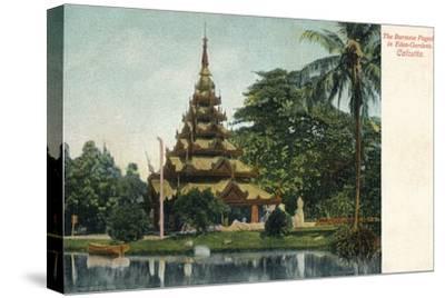 'The Burmese Pagoda in Eden-Gardens. Calcutta', c1900-Unknown-Stretched Canvas Print