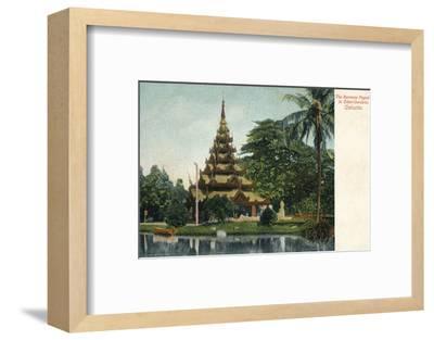 'The Burmese Pagoda in Eden-Gardens. Calcutta', c1900-Unknown-Framed Photographic Print