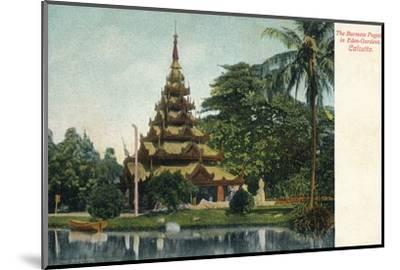 'The Burmese Pagoda in Eden-Gardens. Calcutta', c1900-Unknown-Mounted Photographic Print