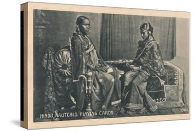 'Hindu Nautches Playing Cards', c1910-Unknown-Stretched Canvas Print