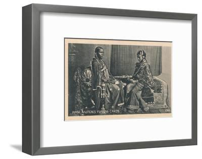 'Hindu Nautches Playing Cards', c1910-Unknown-Framed Photographic Print