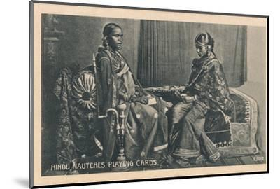 'Hindu Nautches Playing Cards', c1910-Unknown-Mounted Photographic Print