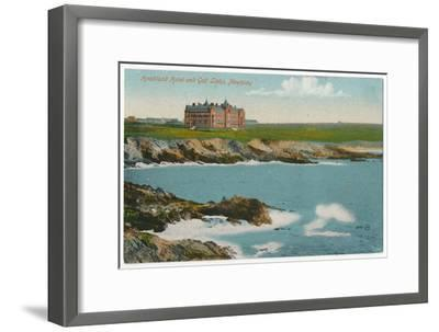 'Headland Hotel and Golf Links, Newquay', c1910-Unknown-Framed Giclee Print
