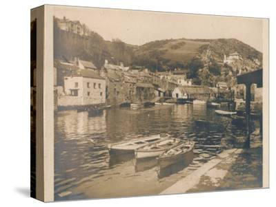 'The Inner Harbour - Polperro', 1927-Unknown-Stretched Canvas Print