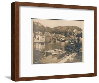 'The Inner Harbour - Polperro', 1927-Unknown-Framed Photographic Print
