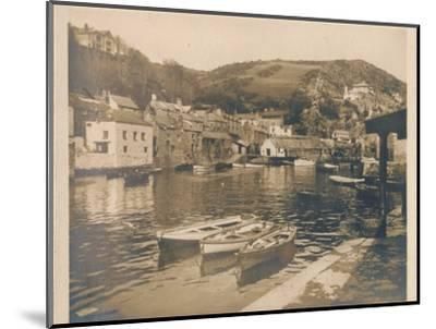 'The Inner Harbour - Polperro', 1927-Unknown-Mounted Photographic Print