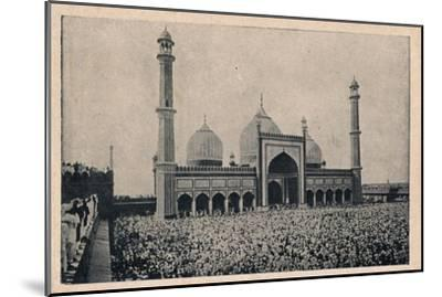'Jama Masjid, Delhi', c1900-Unknown-Mounted Giclee Print