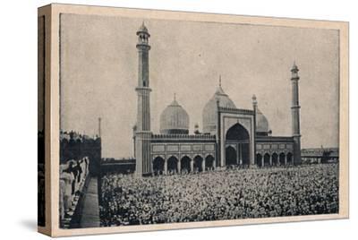 'Jama Masjid, Delhi', c1900-Unknown-Stretched Canvas Print