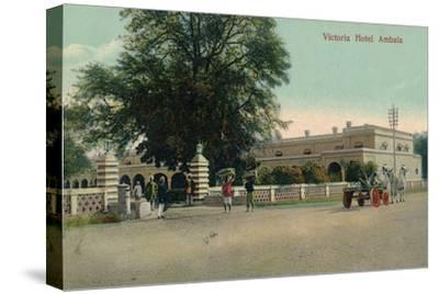 'Victoria Hotel Ambala', c1900-Unknown-Stretched Canvas Print