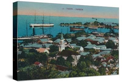 'Tahiti. Papeete', c1920-Unknown-Stretched Canvas Print