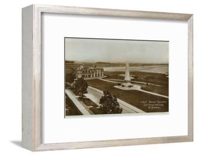 'Martyr's Monument, Golf House and Links, St. Andrews', c1900-Unknown-Framed Photographic Print