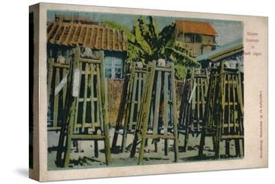 'Chinese Criminals in Death Cages', c1900-Unknown-Stretched Canvas Print