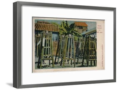 'Chinese Criminals in Death Cages', c1900-Unknown-Framed Giclee Print