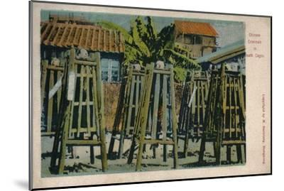 'Chinese Criminals in Death Cages', c1900-Unknown-Mounted Giclee Print