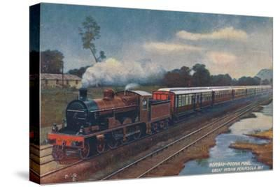 'Bombay-Poona Mail, Great Indian Peninsula Railway', c1900-Unknown-Stretched Canvas Print