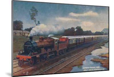 'Bombay-Poona Mail, Great Indian Peninsula Railway', c1900-Unknown-Mounted Giclee Print