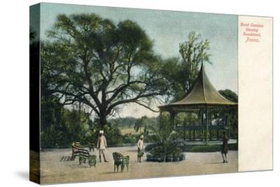 'Bund Gardens Shewing Bandstand, Poona', c1900-Unknown-Stretched Canvas Print