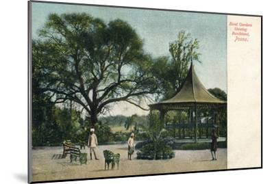 'Bund Gardens Shewing Bandstand, Poona', c1900-Unknown-Mounted Giclee Print