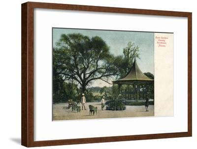 'Bund Gardens Shewing Bandstand, Poona', c1900-Unknown-Framed Giclee Print
