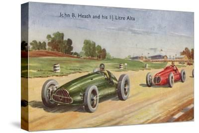 'John B. Heath and his 1 1/2 Litre Alta', c1953-Unknown-Stretched Canvas Print