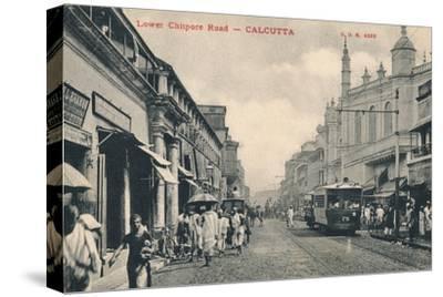'Lower Chitpore Road - Calcutta', c1910-Unknown-Stretched Canvas Print