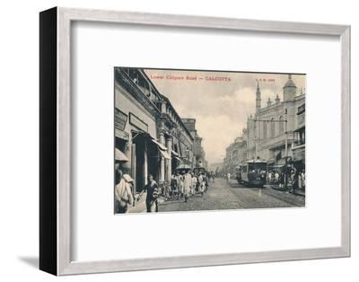'Lower Chitpore Road - Calcutta', c1910-Unknown-Framed Photographic Print