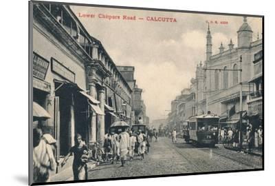 'Lower Chitpore Road - Calcutta', c1910-Unknown-Mounted Photographic Print
