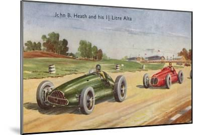 'John B. Heath and his 1 1/2 Litre Alta', c1953-Unknown-Mounted Giclee Print