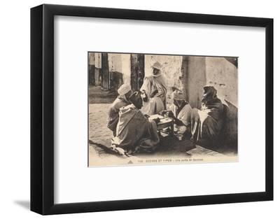 'Scenes Et Types - Une partie de Dominos', c1900-Unknown-Framed Photographic Print