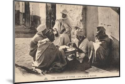 'Scenes Et Types - Une partie de Dominos', c1900-Unknown-Mounted Photographic Print