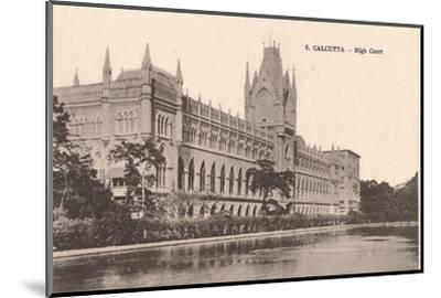 'Calcutta - High Court', c1900-Unknown-Mounted Photographic Print