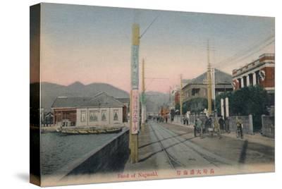 'Bund of Nagasaki', c1910-Unknown-Stretched Canvas Print