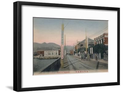 'Bund of Nagasaki', c1910-Unknown-Framed Giclee Print