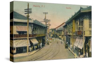 'Manila, P.I. Escolta', c1912-Unknown-Stretched Canvas Print